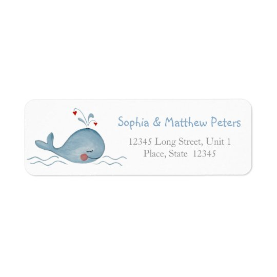 Little Cute Whale | Return Address Labels