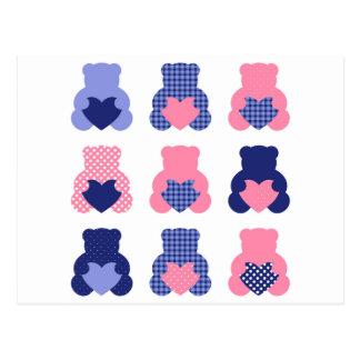 Little cute wonderful teddies Tshirts Postcard