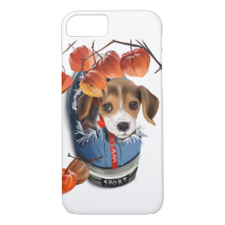 Little Dachshund sitting in the sneaker iPhone 8/7 Case
