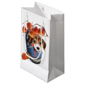 Little Dachshund sitting in the sneaker Small Gift Bag
