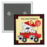 Little Dalmation Fireman - Customize 2 Inch Square Button