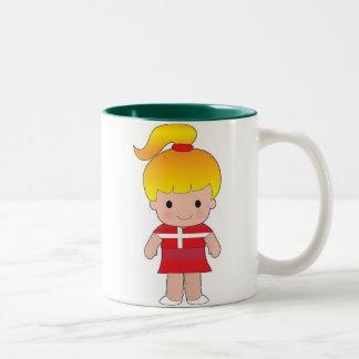 Little Danish Girl Two-Tone Coffee Mug