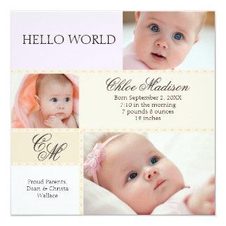 Little Darling Photo Birth Announcement