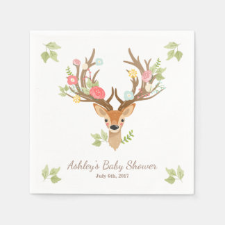 Little Deer Paper Napkin woodland Antlers Shower