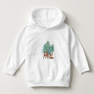 Little Deers In A Winter Landscape Hoodie