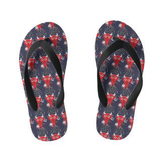 Little Devil - Custom Flip Flops, Kids Kid's Flip Flops