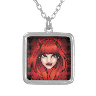 Little Devil Silver Plated Necklace