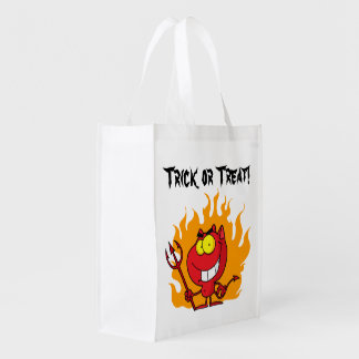 Little Devil Trick or Treat Grocery Bag