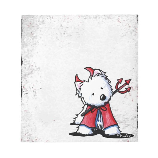 Little Devil Westie Notepad