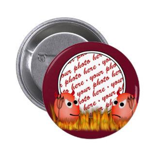 Little Deviled Egg Photo Frame Button