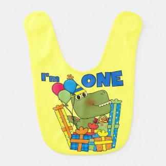 Little Dino 1st Birthday Bib