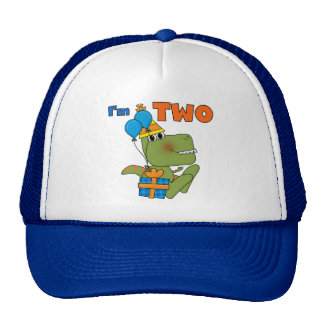 Little Dino 2nd Birthday Tshirts and Gifts Trucker Hat