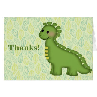 Little Dino Birthday Thank You Note Greeting Card