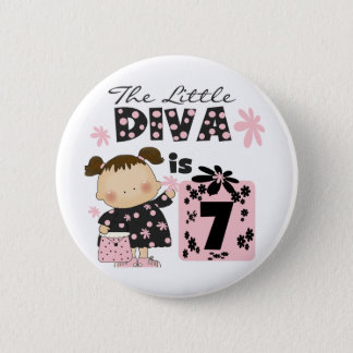 Little Diva 7th Birthday Tshirts and Gifts 2 Inch Round Button
