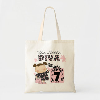 Little Diva 7th Birthday Tshirts and Gifts Bags
