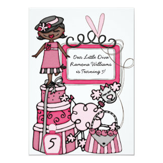 Little Diva Girls Makeover Spa Day Birthday Invite