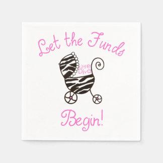 """Little Diva - """"Let the Funds Begin!"""" Paper Napkin"""