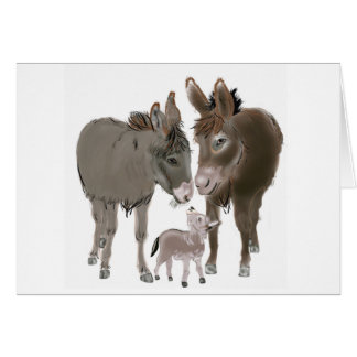Little Donkey Christmas and New Year Card