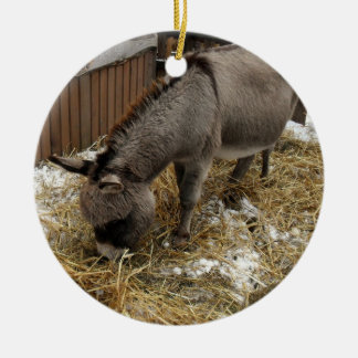 Little Donkey Christmas Ceramic Ornament