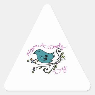 Little Dove Triangle Stickers