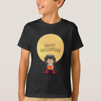 Little Dracula Halloween Vampire & Moon Custom T-Shirt