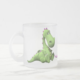 Little Dragon Frosted Glass Mug