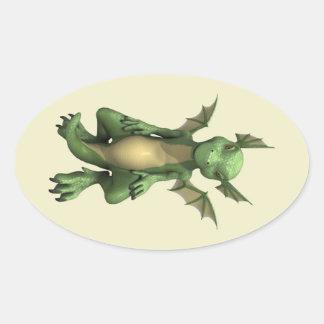 Little Dragon Oval Sticker