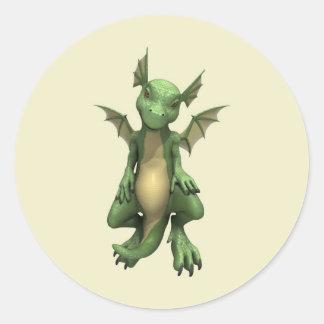 Little Dragon Round Sticker