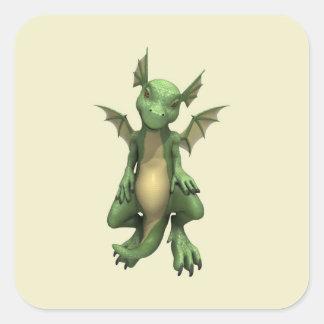 Little Dragon Square Sticker