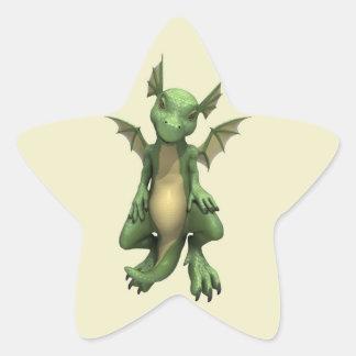 Little Dragon Star Sticker
