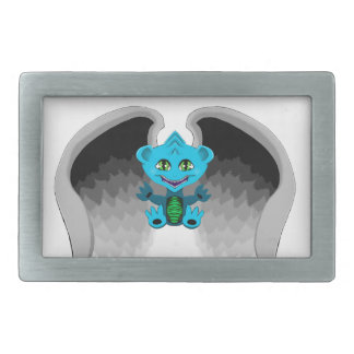 Little Dragon with Wings Rectangular Belt Buckles