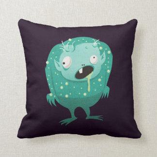 Little Drool Monster Throw Pillow