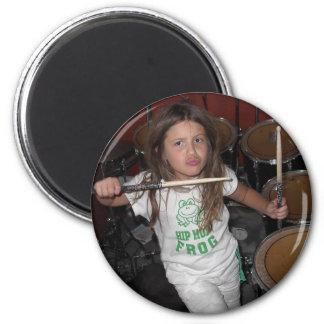 Little drummer girl magnet