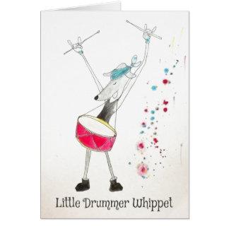 Little Drummer Whippet Christmas Card