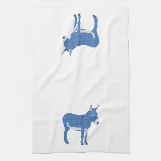 Little Eddie Donkey's Not Really Blue Kitchen Towel