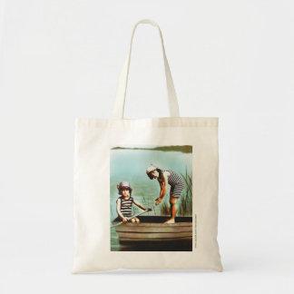 Little Edwardian Beach Day Artist Tote Bag