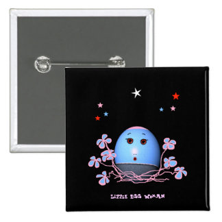 Little Egg woman (change words) 2 Inch Square Button