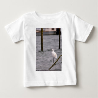 Little egret perched baby T-Shirt