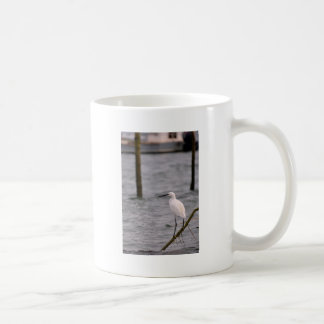 Little egret perched coffee mug