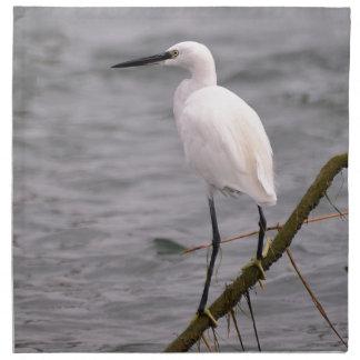Little egret perched napkins