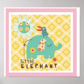 little elephant wall decor poster