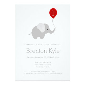 Elephant Birthday Invitations & Announcements   Zazzle Canada