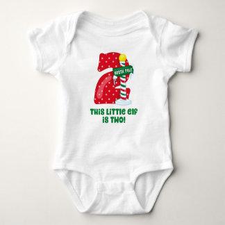 Little Elf 2nd Birthday Baby Bodysuit