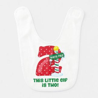 Little Elf 2nd Birthday Bib