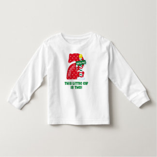 Little Elf 2nd Birthday Toddler T-shirt