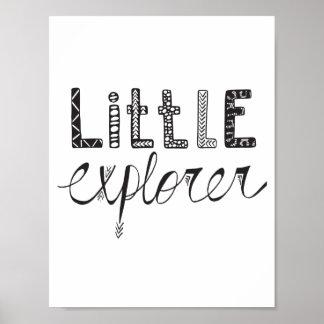 Little Explorer - Nursery or Kids Room Poster