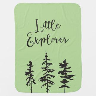 Little Explorer, Woodland Trees Baby Blanket