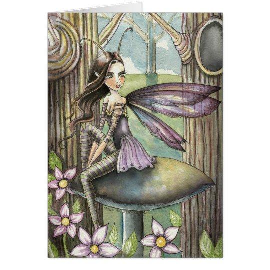 Little Fairy in the Woods Fantsy Art Card