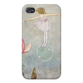Little Fairy on a Bubble Covers For iPhone 4