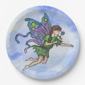 """Little Fairy"", Paper Plates 9 in 9 Inch Paper Plate"